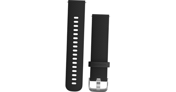 Garmin Vivoactive 3 Siliconen Polsband Zwart/Zilver S