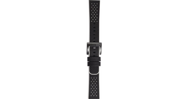 Samsung Gear Sport Hybrid Leren/Kunststof Horlogeband Zwart