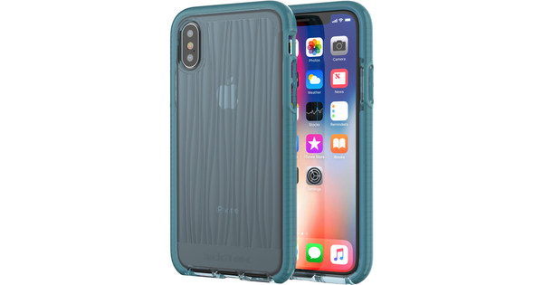 hot sale online 4e88a c4314 Tech21 Evo Wave Apple iPhone X Back Cover Blue
