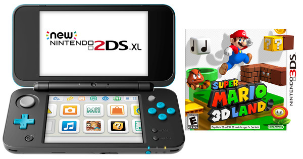 Nintendo 2DS XL + Super Mario 3D Land Bundle