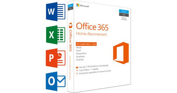 Microsoft Office 365 Home 1 jaar abonnement FR