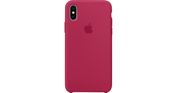 best loved a3b41 8d158 Apple iPhone X Silicone Back Cover Rose Red