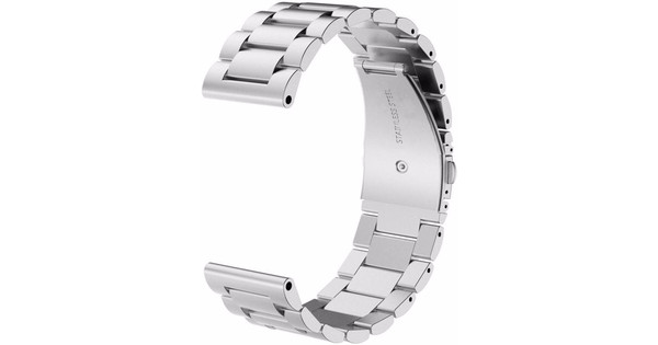 Just in Case Samsung Gear Sport RVS Horlogeband Zilver