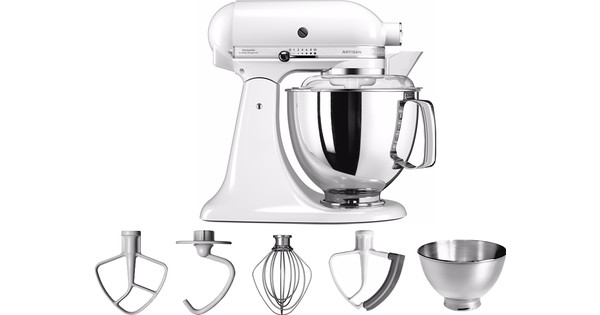 Kitchenaid Artisan Kleuren.Kitchenaid Artisan Mixer 5ksm175ps Wit