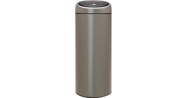 Touch Bin 30 Liter.Brabantia Touch Bin 30 Liter Platinum With Platinum Lid