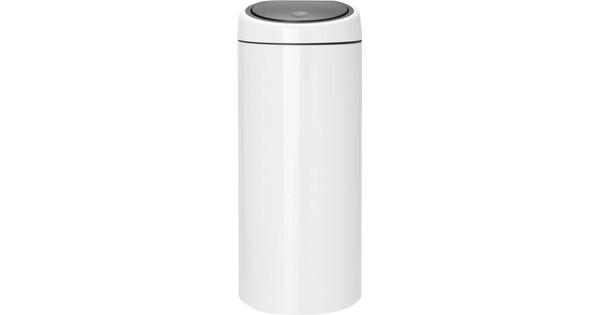 Brabantia Prullenbak 30 Liter.Brabantia Touch Bin 30 Liter Wit