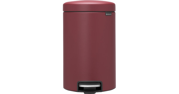 Brabantia NewIcon Pedaalemmer 12 Liter Mineral Windsor Red