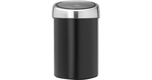 Brabantia Touch Bin 50 Liter Zwart.Brabantia Touch Bin 3 Liter Zwart