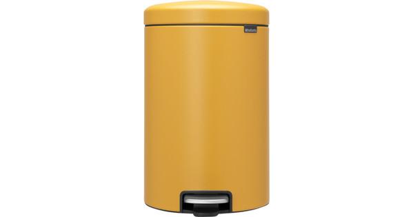 Brabantia 20 Liter Pedaalemmer.Brabantia Newicon Pedaalemmer 20 Liter Mustard Yellow