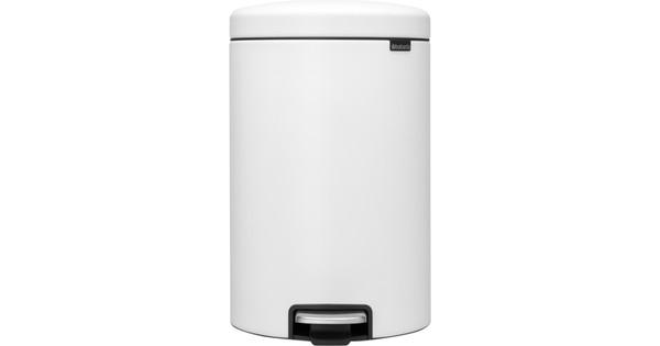 Brabantia NewIcon Pedaalemmer 20 Liter Eternal White