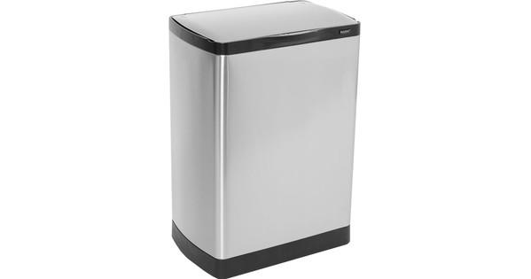 Easybin Pedaalemmer Rvs 30 Liter Met Binnenemmer.Easybin Sensor Silver Flatline 30 Liter