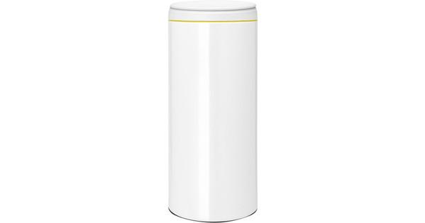 Brabantia Touch Bin 30 Liter Wit.Brabantia Flipbin 30 Liter Wit