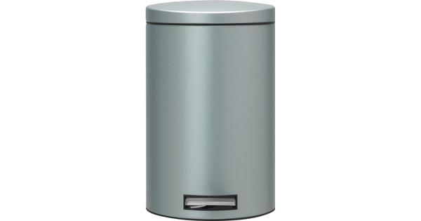 Brabantia Silent Pedaalemmer.Brabantia Pedaalemmer Silent 12 Liter Metallic Mint