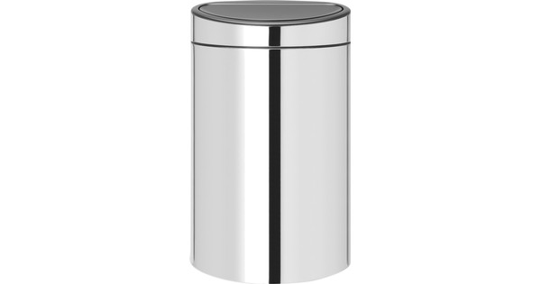 Touch Bin Sluiting.Brabantia Touch Bin 40 Liter Brilliant Steel Coolblue Voor 23 59