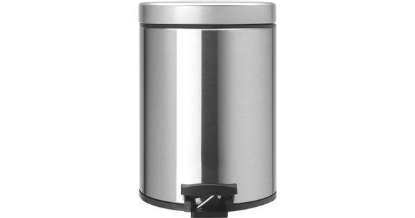 Brabantia Pedaalemmer 5 L.Brabantia Pedaalemmer 5 Liter Matt Steel Fingerprint Proof