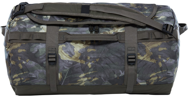 The North Face Base Camp Duffel S Green Tropical Camo/Taupe Green