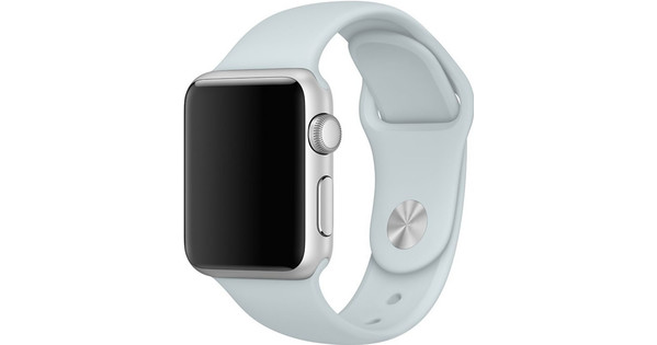 Apple Watch 42mm Siliconen Horlogeband Sport Nevelblauw