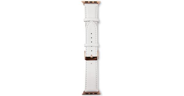 Copenhagen Apple Watch 38mm Leren Horlogeband Wit