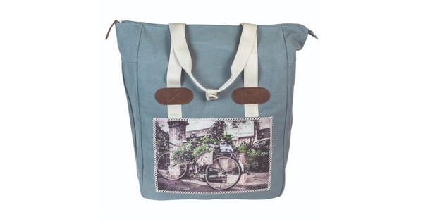 FastRider Dubbele Shopper Tas Cyclo Blauw