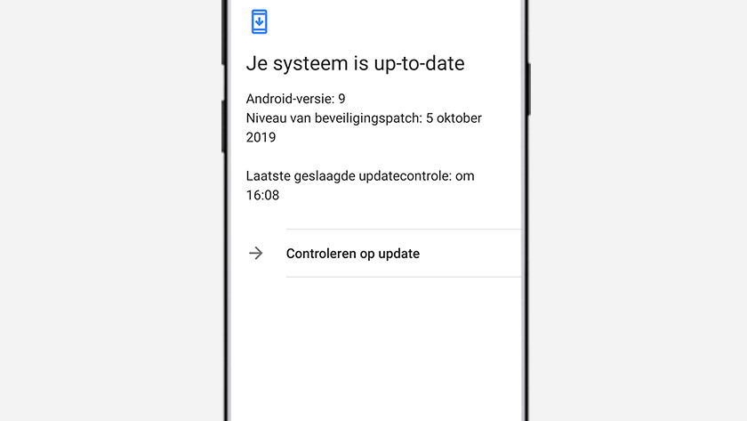 Software update beveiligingsupdate