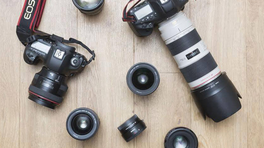 Lenses for an SLR camera