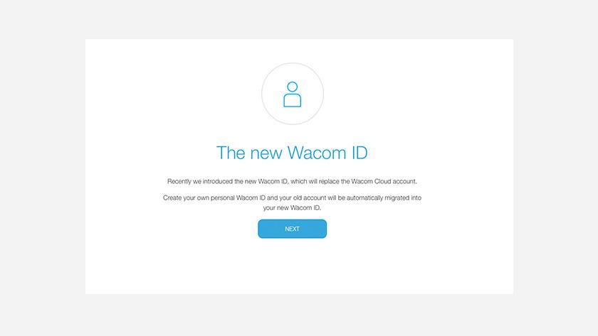 Wacom id aanmaken