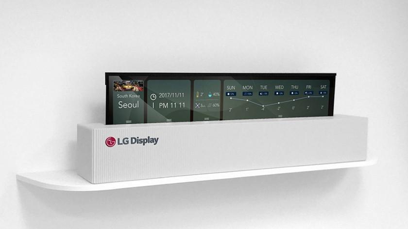 LG roll-up TV OLED