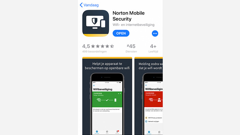 Open Norton app