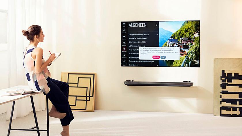 LG tv resetten