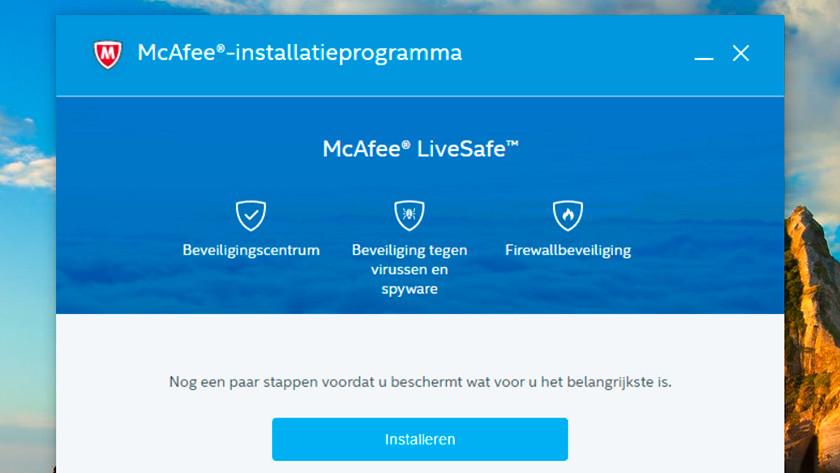 McAfee installatieprogramma.