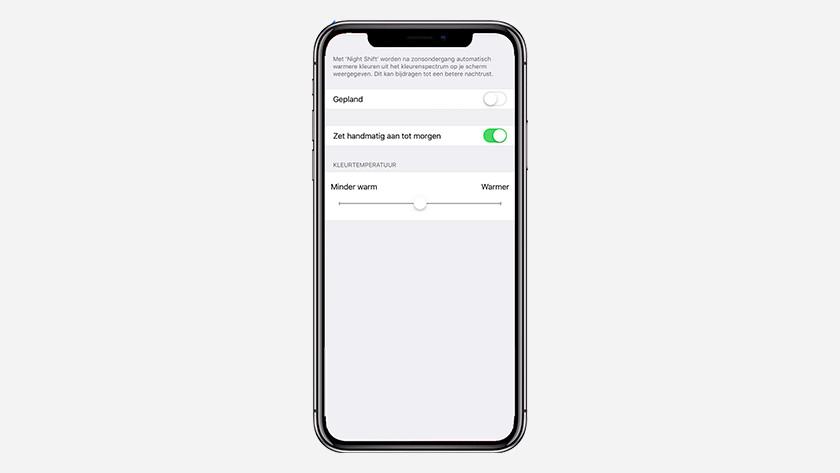 Mode nuit sur l'iPhone