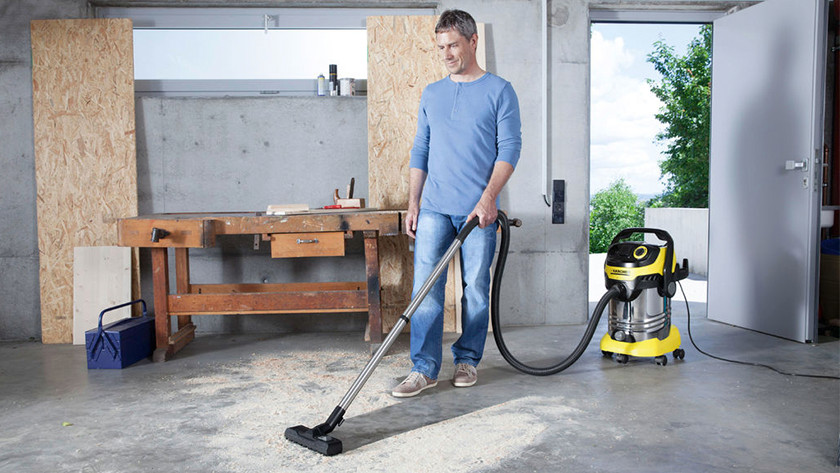 Vacuuming construction dust or water