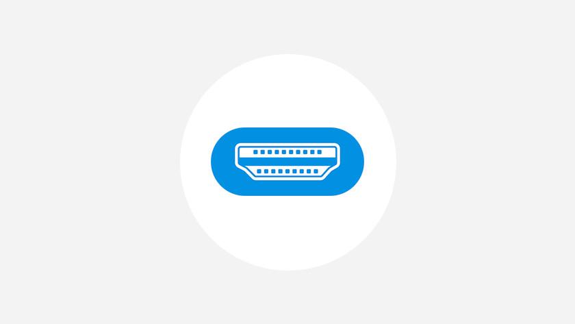 HDMI aansluiting afbeelding.