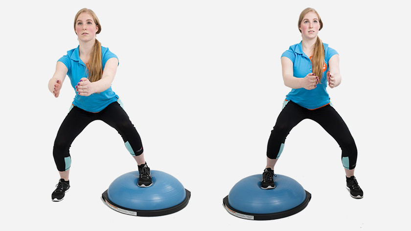 alternating squats uitleg bosu bal