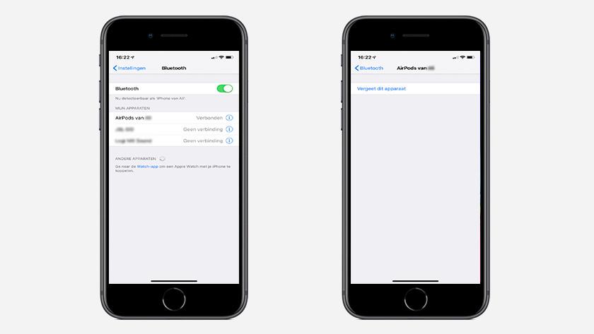 Bluetooth instellingen herstellen op iPhone