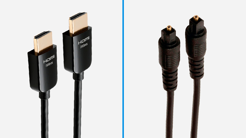 Hdmi kabel en optische kabel