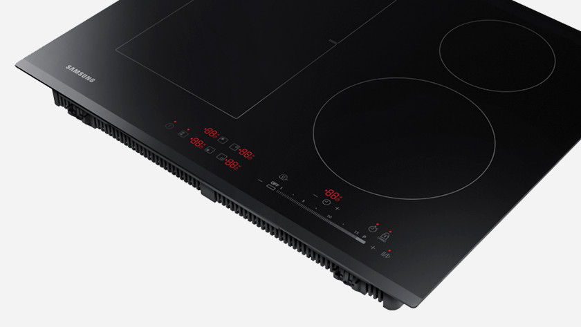 Fully recessed cooktop