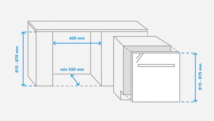 Dimensions de la niche du lave-vaisselle
