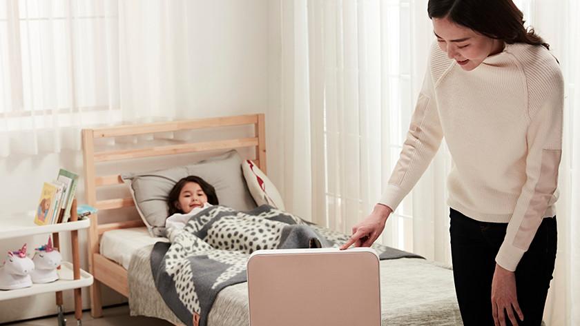 Luchtreiniger in kinderslaapkamer