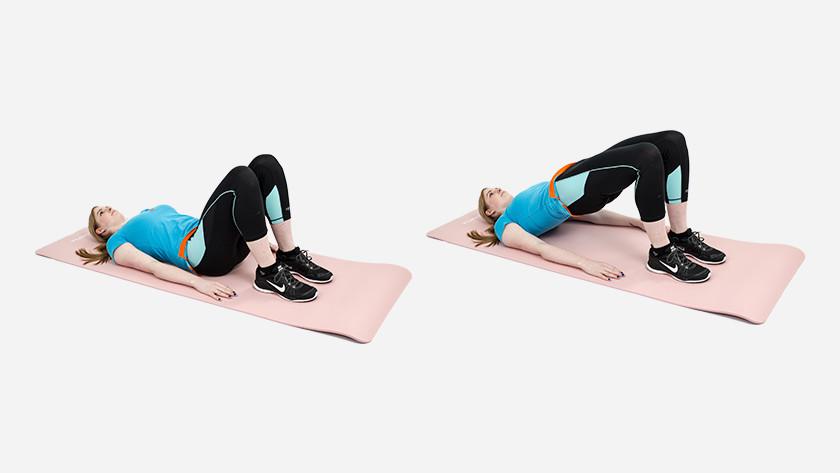 explication du glute bridge sur le tapis de fitness