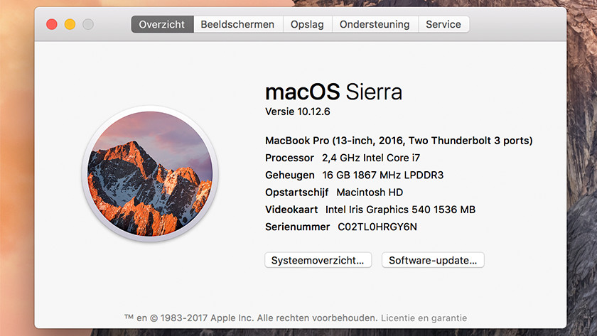 MacOS welke MacBook