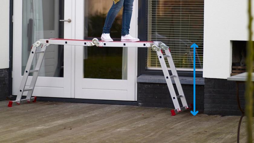 Maximale stahoogte ladders