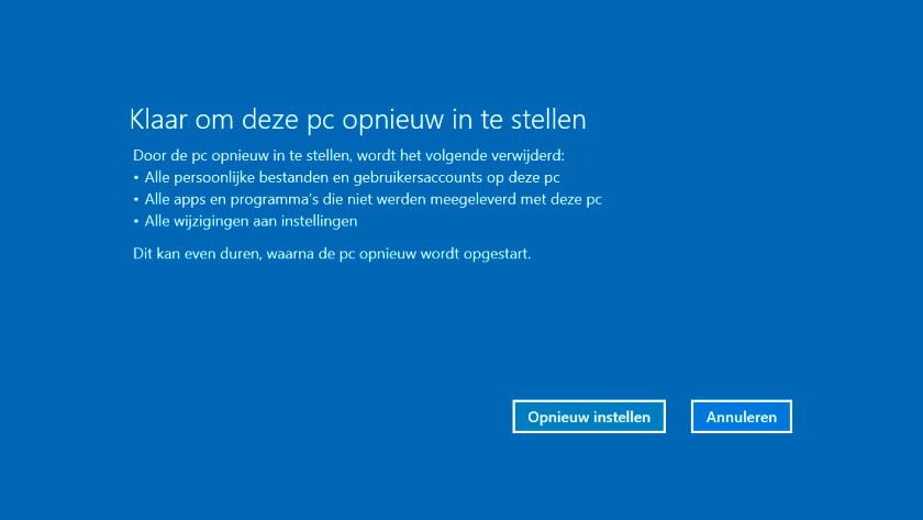 Reset Windows 10 PC.