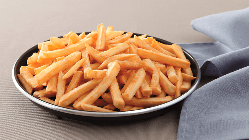 Crisp plate with fries