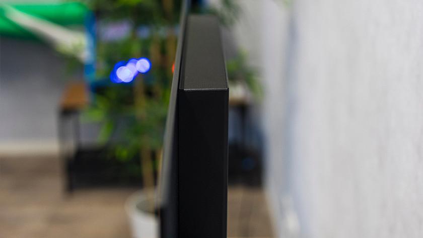 De dunne rand van de Panasonic TX-GZW2004