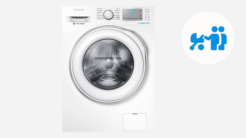Machine à laver pour 2 personnes et 1 bébé