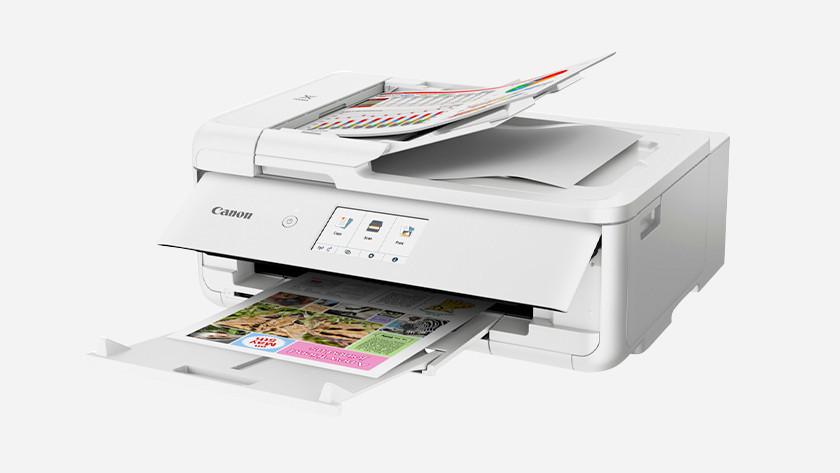 Onderdelen van de printer
