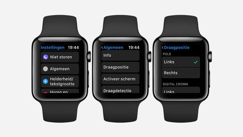 Changer l'orientation via Apple Watch