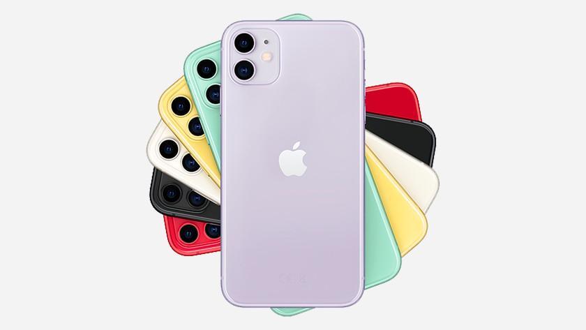 Apple iPhone 11 zilver, groen, geel, paars, rood, zwart