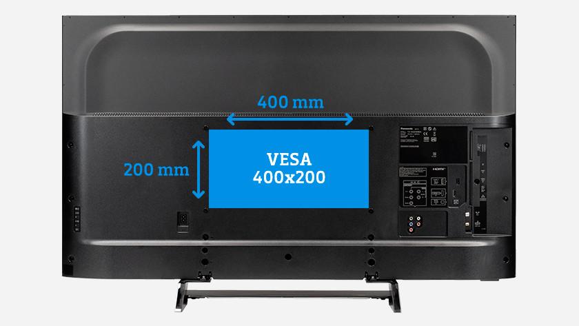 Wat is de VESA maat van mijn tv